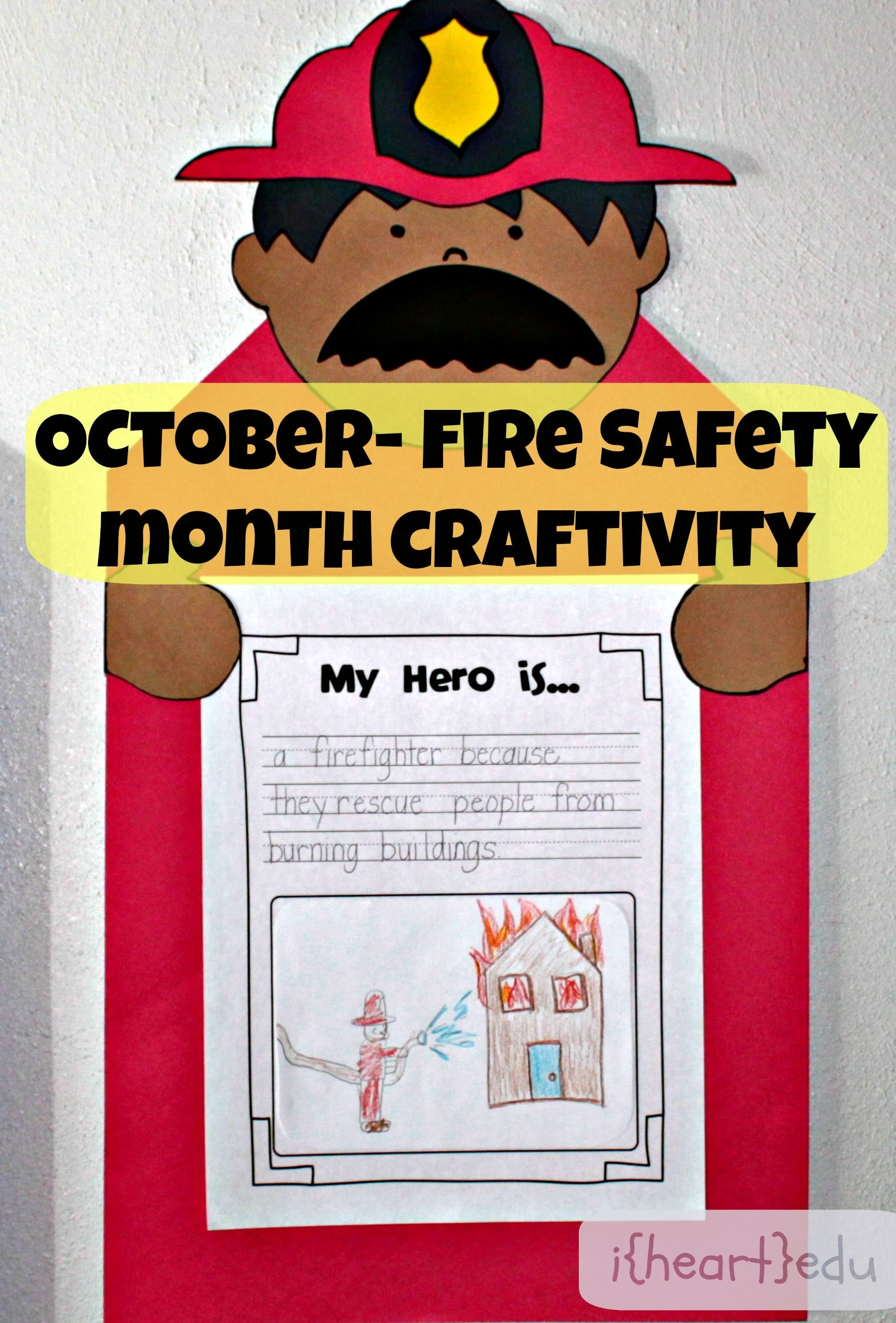 Fire Safety Month Craftivity Freebie Guest Post