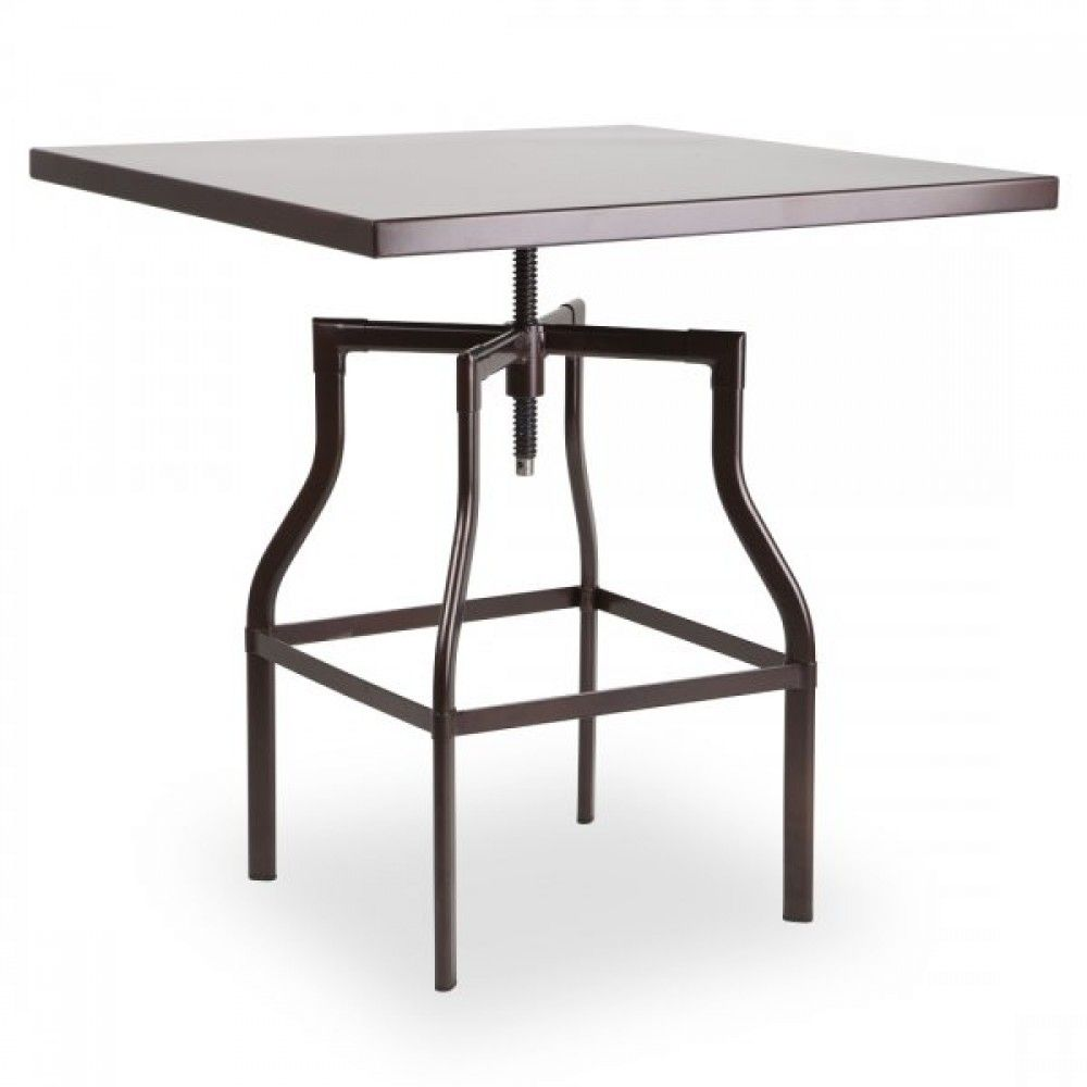 machinist adjustable height bistro swivel table square tables rh pinterest com