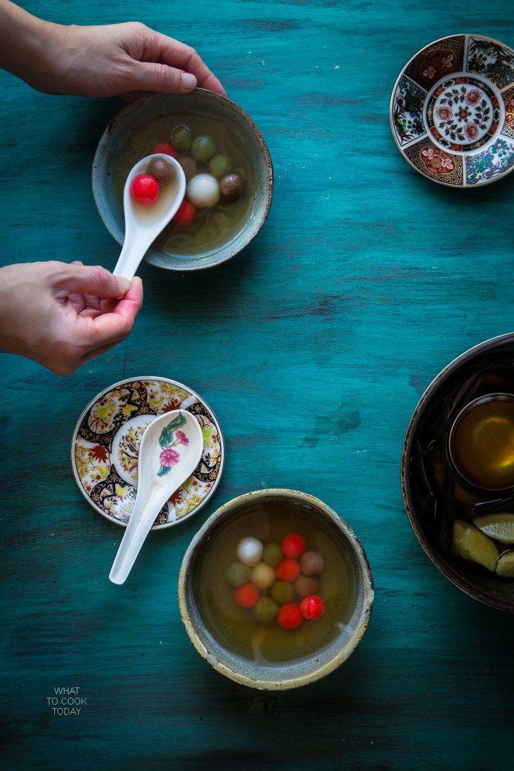Glutinous rice dumplings (Tang Yuan) | Asian Dessert ...