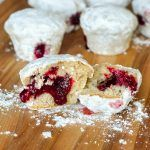 Raspberry Filled Donut Muffins all the flavour of a jelly donut in a muffin.
