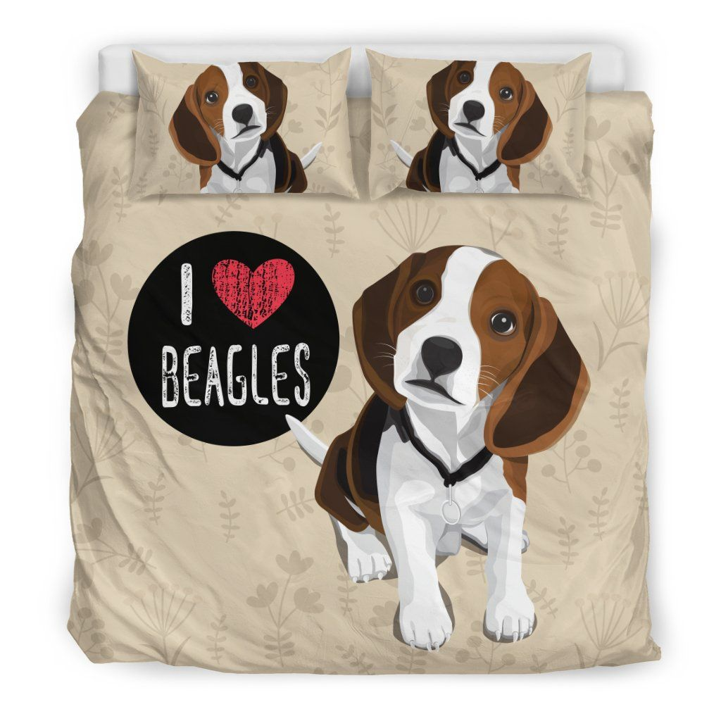 I Love Beagles Bedding Set For Lovers Of Beagle Dogs Beagle Dog