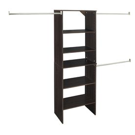another good option closetmaid 25 in espresso laminate stacking rh pinterest com