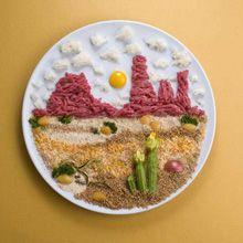 """O Studio 23, fundado pela italiana Daniela Di Rienzo, criou um projeto chamado """"Food Lover"""" em parceria com a artista culinária Mariagrazia Lonza. O projeto consiste em criar imagens utilizando comida, o resultado foi incrível! Agora podemos não apenas admirar uma paisagem, mas também saboreá-la."""