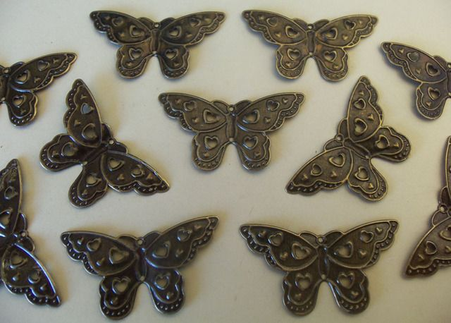 Antique Brass Butterfly Pendant. Starting at $5 on Tophatter.com!