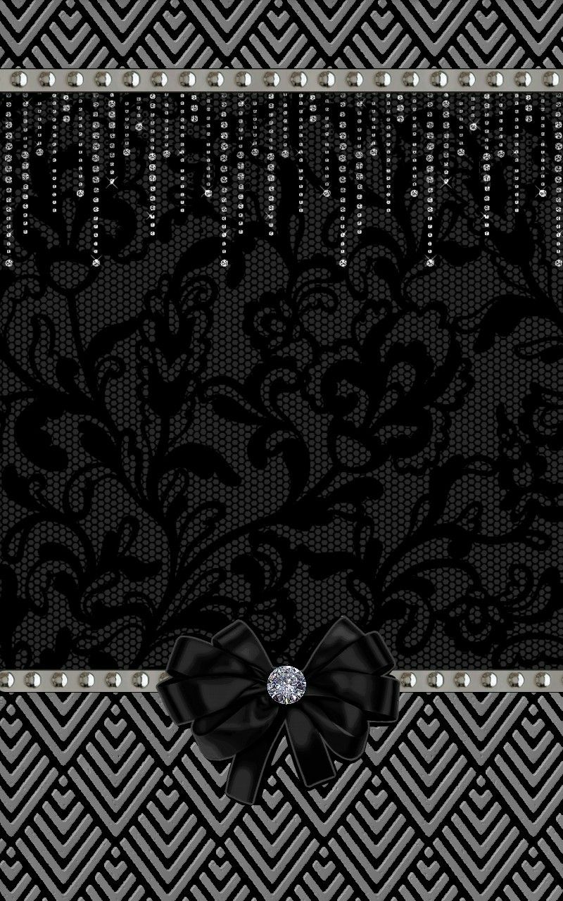 Black Silver Sparkly Wallpaper By Artist Unknown Dark Phone Wallpapers Black And Silver Wallpaper Bow Wallpaper