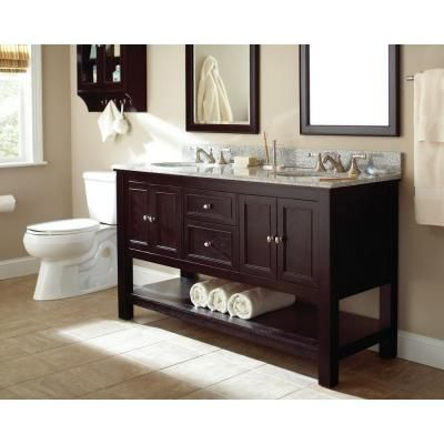 Foremost Gazette 60 In W X 21 63 In D X 34 In H Vanity Cabinet Only In Espresso Gaea6022d The Home Vanity Cabinet Bowl Designs Home Decorators Collection