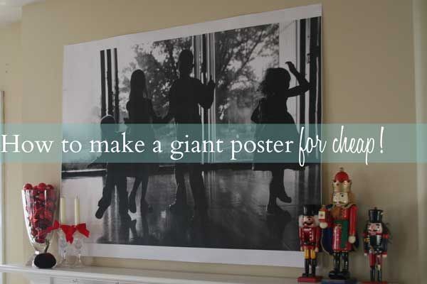 How to make your own giant 3 black and white art with engineering prints
