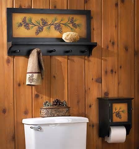 Lodge Bathroom Style Lodge Bathroom Decorations | Bathroom ...