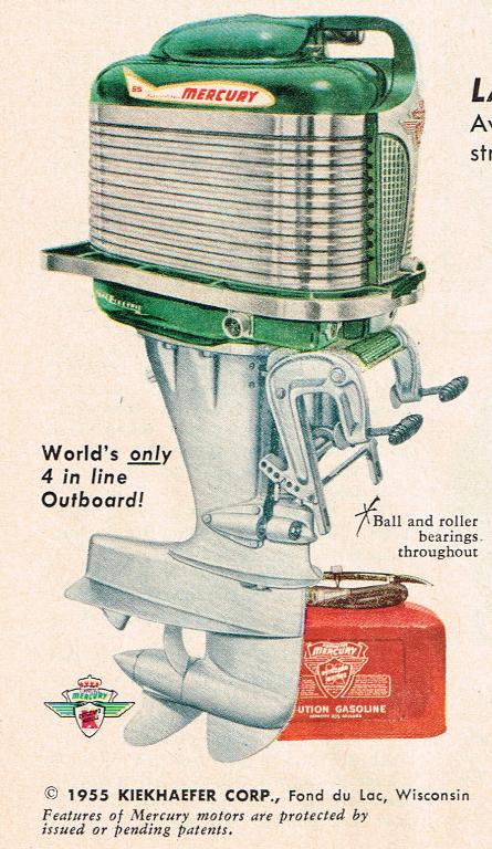Mercury Outboard Dealers >> 1955 Mercury Outboard Motor Advert Outboard Boat Motors