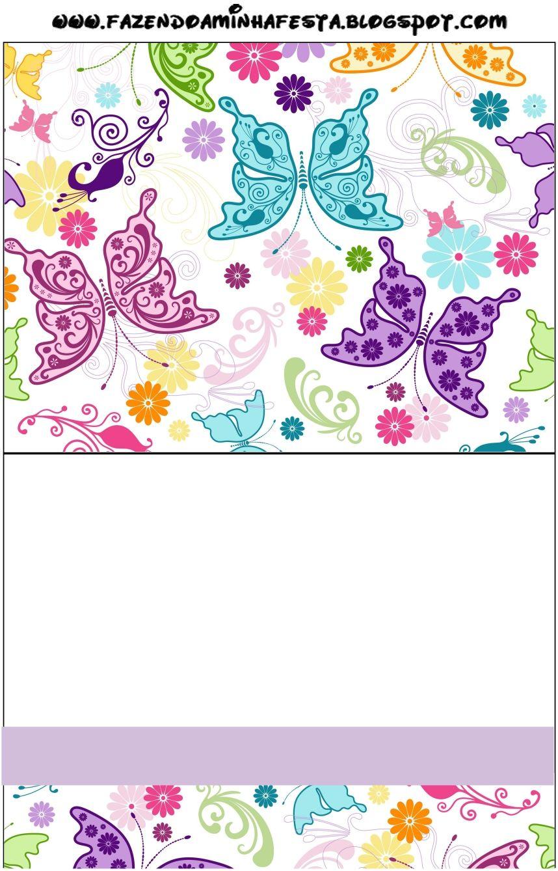 Invitaciones de mariposas para imprimir gratis.   Ideas y material ...