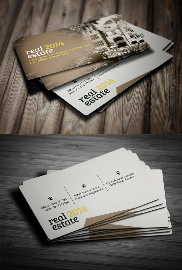 Real Estate Business Card Businesscards Art Graphique Graphiques Modele Carte De Visite