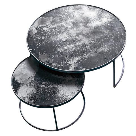 Notre Monde Heavy Aged Coffee Table Set Allissias Attic Coffee Table Coffee Table Setting Nesting Coffee Tables