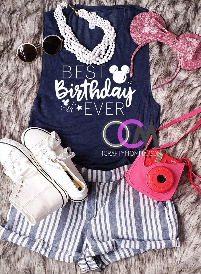 Best Birthday Ever Disney Tank Top Shirts World Vacation Tops Ladies Racerback 2199