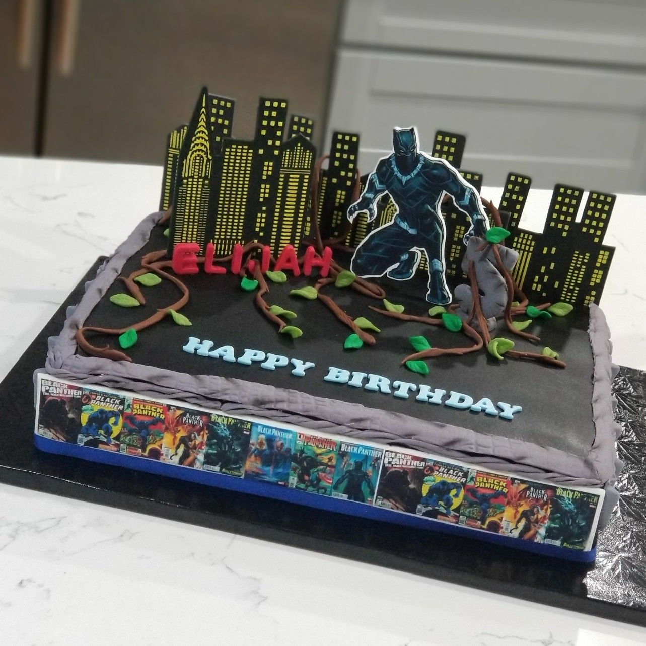 pictures of black panther birthday cakes