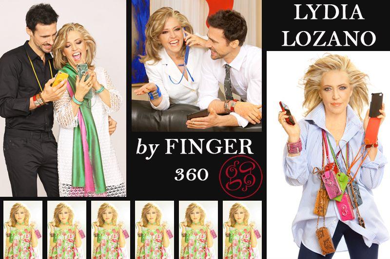 LYDIA LOZANO BY FINGER 360.  Una de nuestras fans más conocidas. La guapa periodista Lydia Lozano apuesta por nuestra firma por su comodidad y también por la enorme variedad en colores y modelos que ofrecemos para combinar con sus looks. Check our products: www.finger360.com