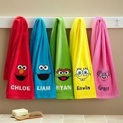 personalized sesame street bath towels | gift ideas for girls ...