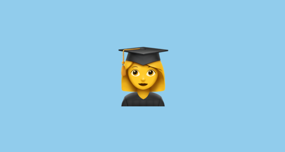 The Woman Student Emoji Is A Sequence Of The Woman And Graduation Cap Emojis These Display As A Single Emoji On Supported P Student Emoji Graduation Cap