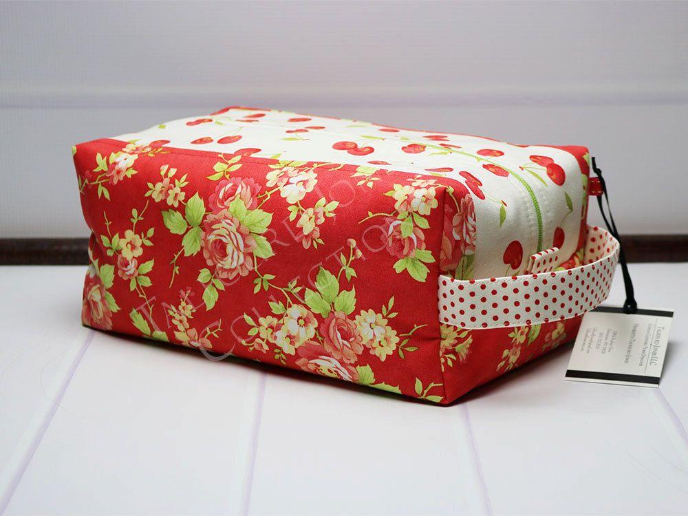 52af05eb90 Jumbo Travel Toiletry Bag - Cosmetic Travel Bag - Travel Makeup Bag -  Zipper Box Pouch - Moda Fabrics Farmhouse - Gift Ideas for Her by  TalfourdJones on ...