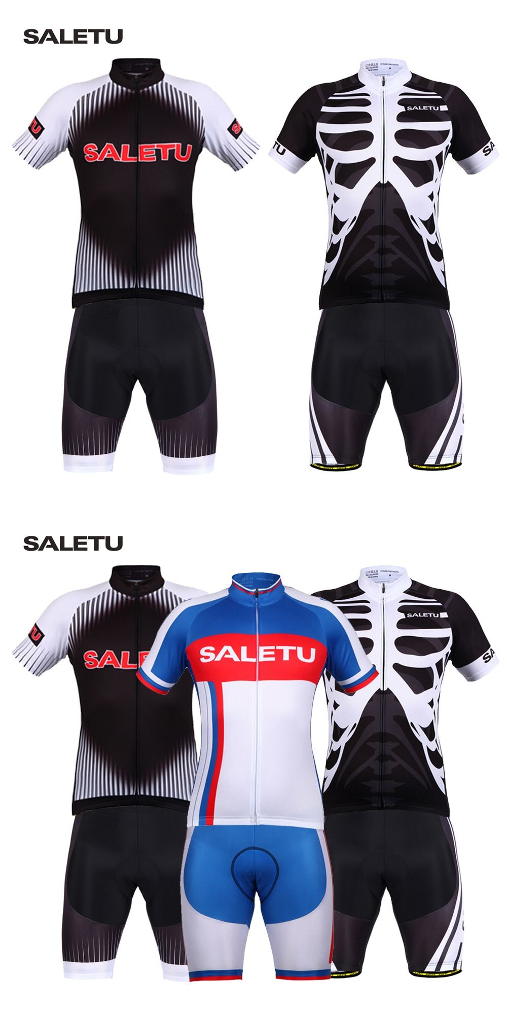 54460510c SALETU Cycling Jersey Short Sleeve Triathlon Skinsuit 4D Padded Mtb Bike  Bicycle Jersey Cycling Clothing Sets
