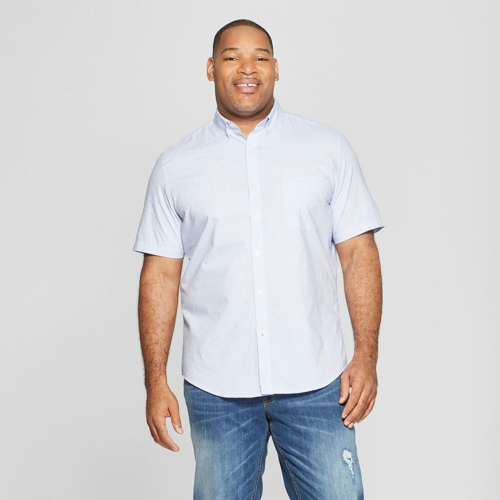 4eccc8b7 The Short-Sleeve Poplin Button-Down Shirt from Goodfellow and Co makes it  easy to sport effortlessly cool style. A button-down design and collared  neckline ...