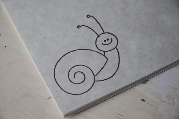Snail Stationery, Letter Writing Set, Snail Mail, Stamped Stationery, Snail Gift, Parchment Paper, Snail Paper, Snail Stamp, Snail Letter