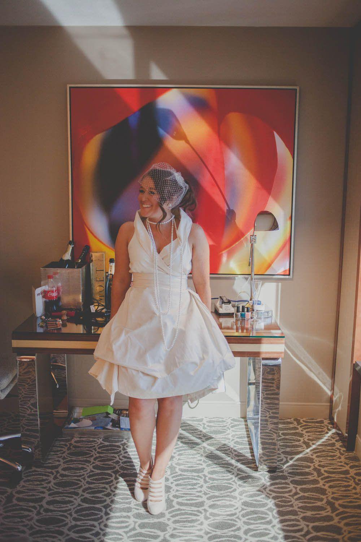 Las Vegas Party Wedding Kerry Rob Vegas Bride Little White Dresses Casual Wedding [ 1500 x 1000 Pixel ]