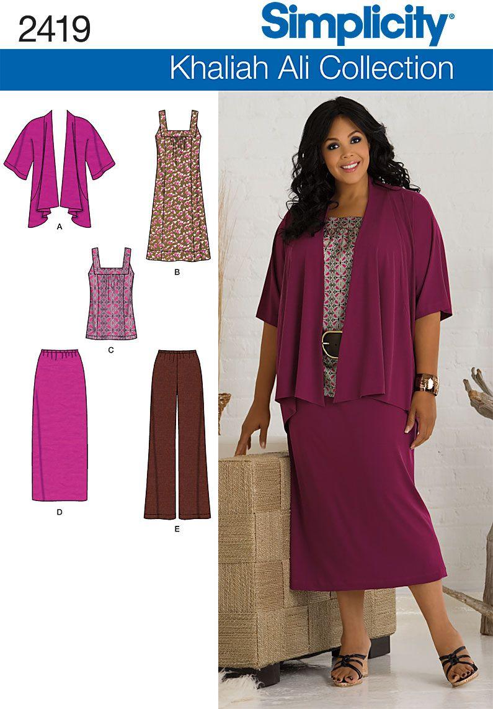 2419 Misses\' & Plus Size Sportswear Misses\' & Plus Size Khaliah Ali ...