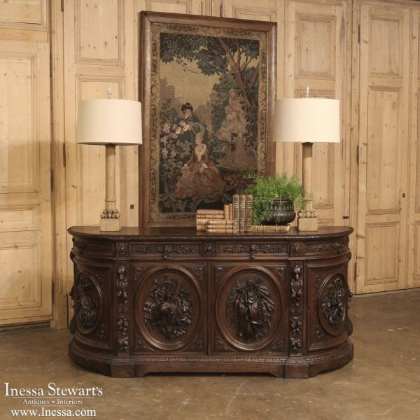 Antique Furniture | 19th Century French Renaissance Hunt Buffet |  www.inessa.com # - Antique Furniture 19th Century French Renaissance Hunt Buffet