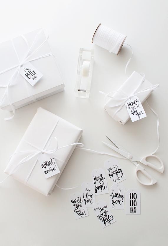 Presentes all white. Lindos!