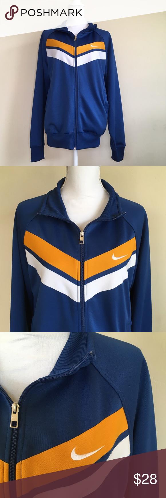 Nike Athletic Dept. Track Jacket Size Large Nice Blue Track
