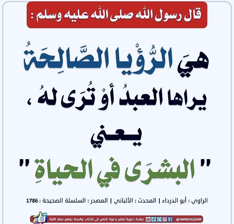 الرؤيا والحلم Islam Arabic Calligraphy Calligraphy