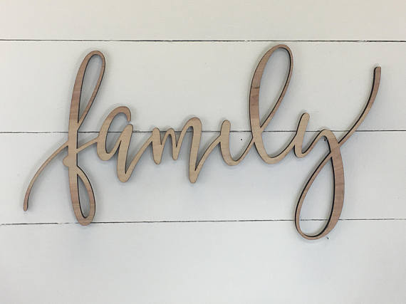 Family Wooden Wall Word Sign Wooden Word Wooden Words Wooden Wood Art Wood Word Wooden Letters Wooden Words Word Wall Decor Wooden Signs