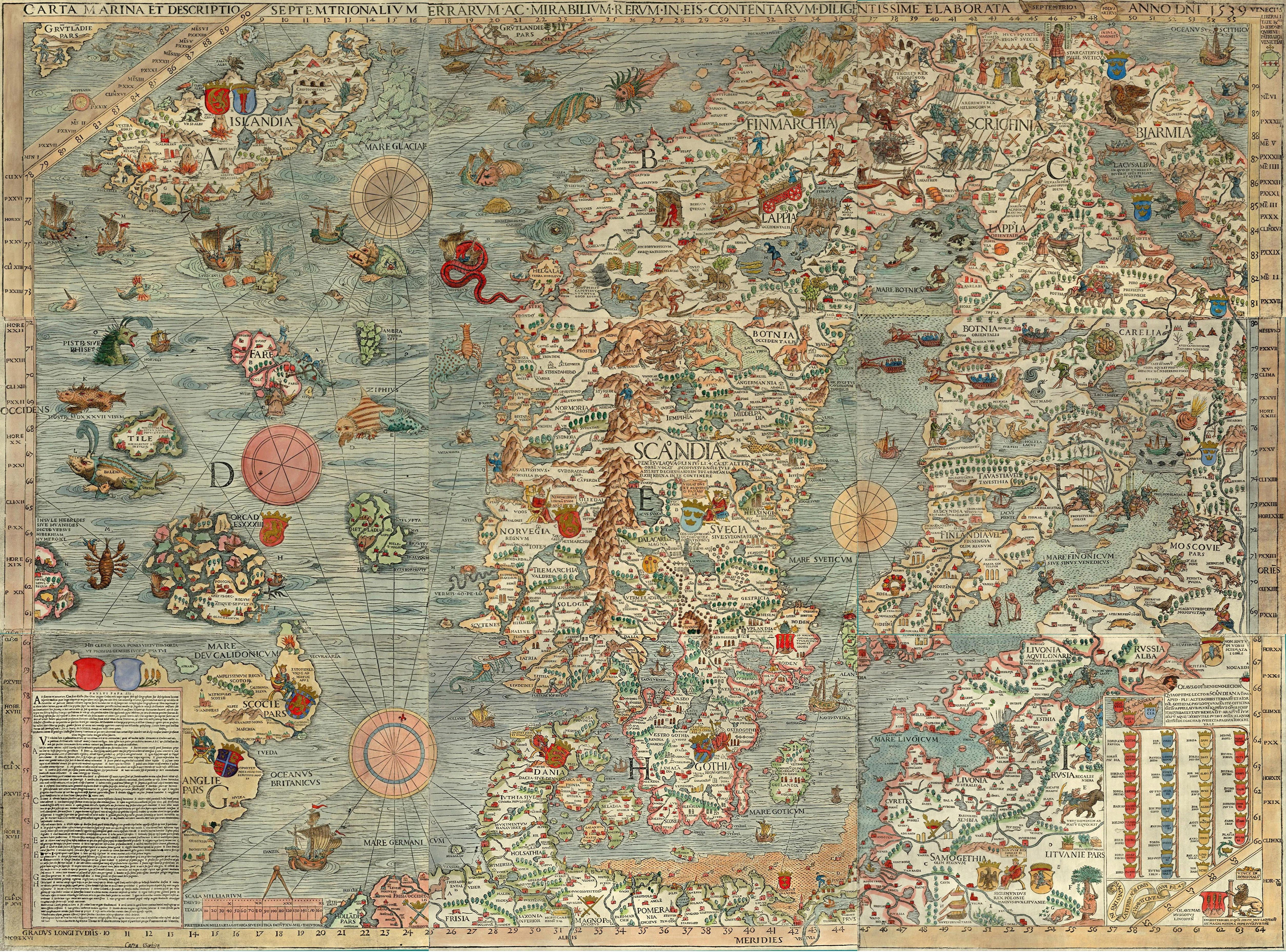 Scandinavian With Images Antique World Map Sea Map Old Map