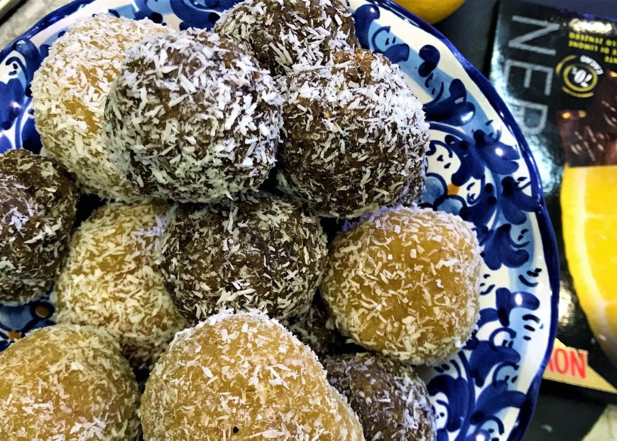 Lemon coconut vegan energy balls with images vegan
