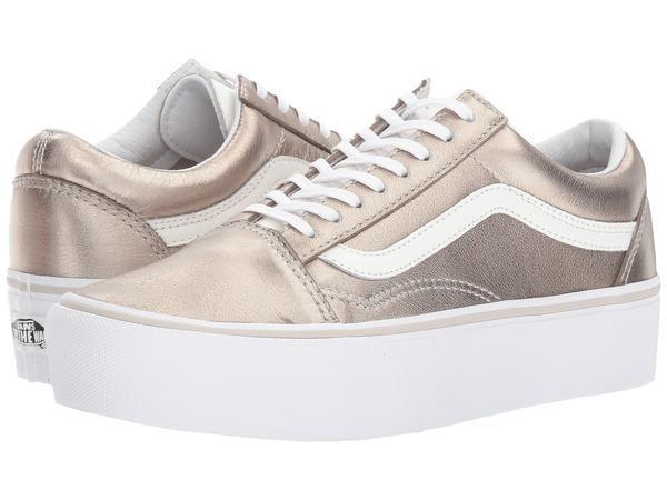 VANS Old Skool Platform Women | Grey Gold True White