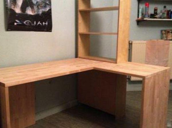 eckschreibtisch selber bauen aus holz ganz gut gemacht wohnung pinterest room. Black Bedroom Furniture Sets. Home Design Ideas
