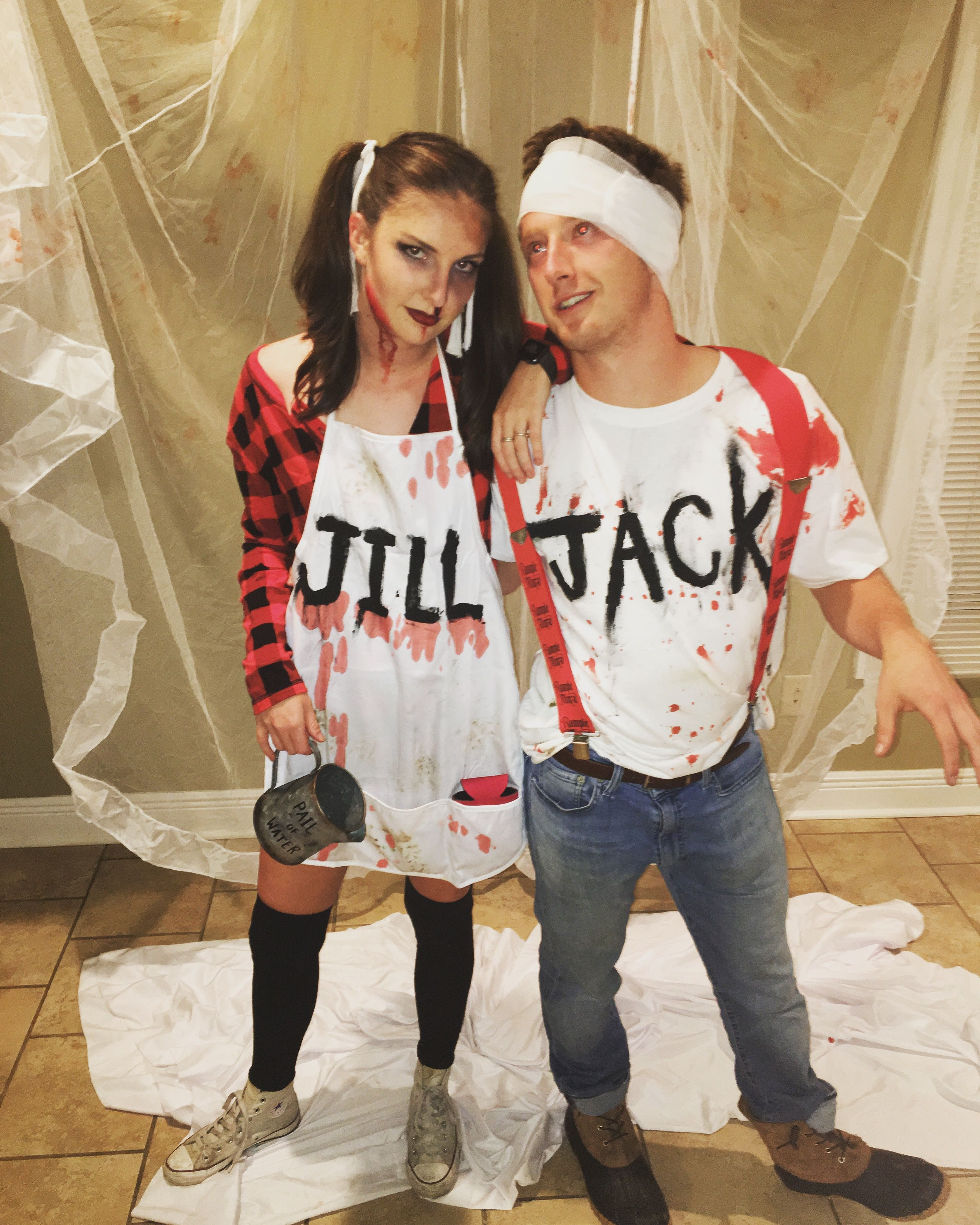 Jack and jill nursery rhyme Halloween costume scary couple costume