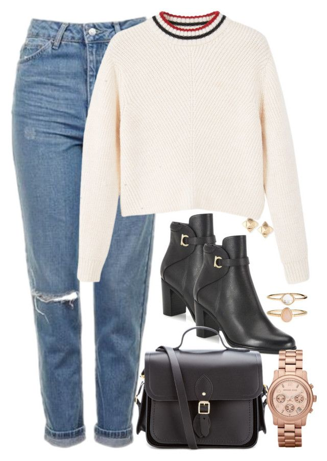 """369"" by theodora-manesca ❤ liked on Polyvore featuring Valentino, Topshop, MANGO, Salvatore Ferragamo, The Cambridge Satchel Company, Michael Kors and Accessorize"
