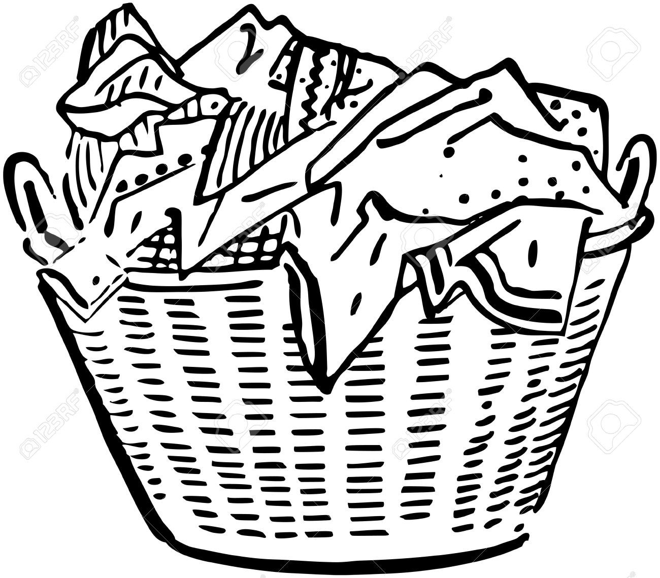 Laundry Basket Clipart : Laundry basket royalty free cliparts vectors and stock