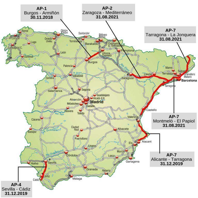 Spanien Schafft Die Maut Ab Diese Strecken Werden Mautfrei