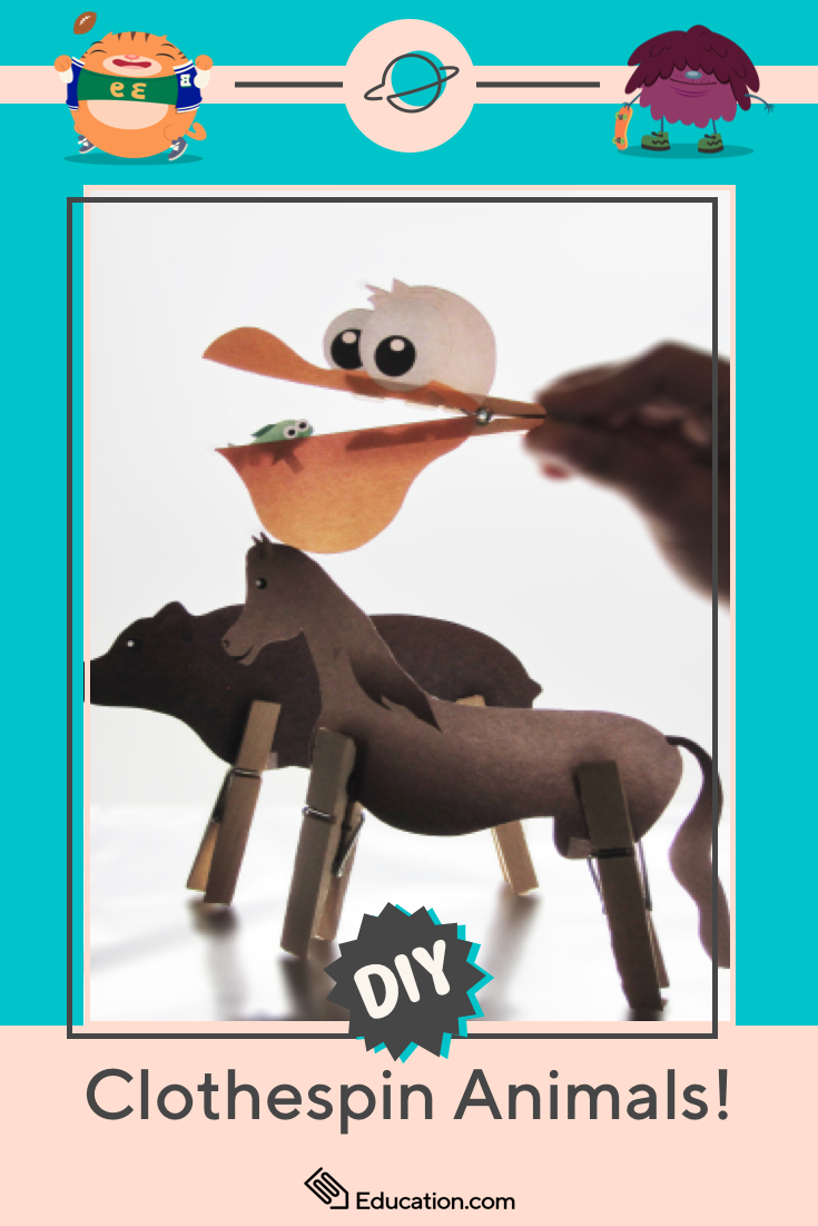 transform paper and clothespins into endearing animal pals with this easy and delightful diy craft craftsforkids storytelling imagination artsandcrafts