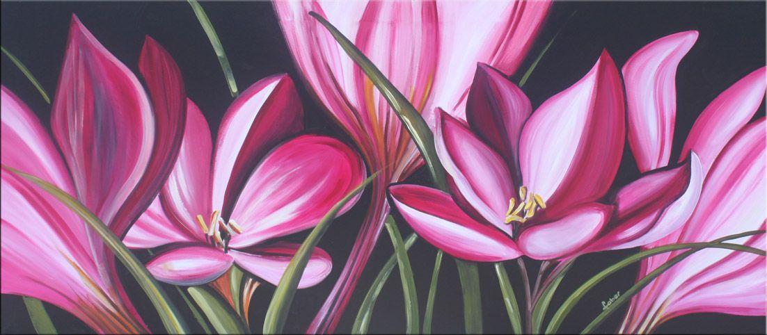 Quadri floreali moderni dipinti su tela ad olio | PAINTINGS ...