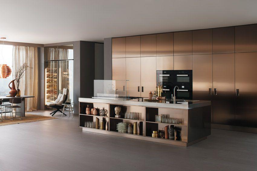 Arclinea Kitchen Eco-compatible kitchen Italia with greenhouse