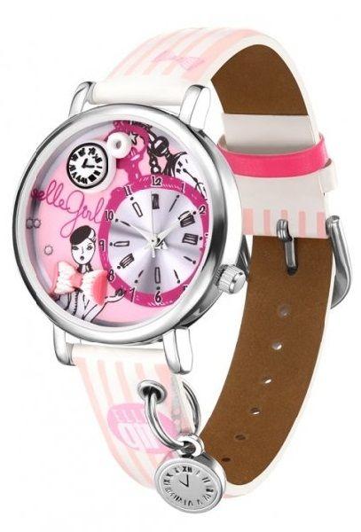 """Reloj analógico para chicas de diseño exclusivo """"Elle Girl"""" GW40058S01X. Esfera con elementos decorativos en 3D"""