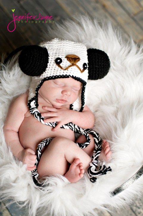 panda crochet hat pattern | miscellaneous | Pinterest