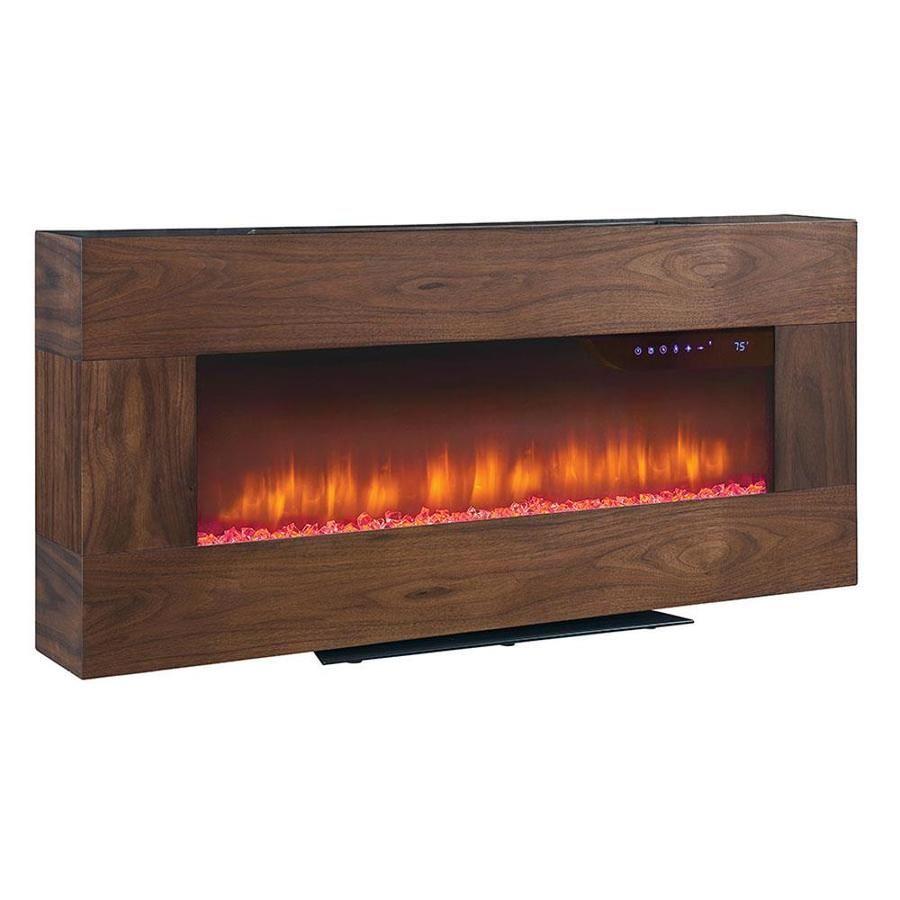 Scott Living 41 In W Walnut Fan Forced Electric Fireplace Lowes
