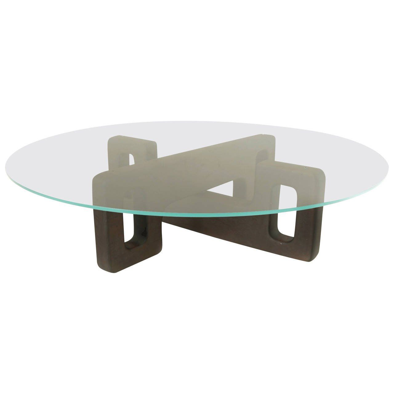 Sculptural Brazilian Cejera Wood And Glass Coffee Table Coffee Table Glass Coffee Table Glass [ 1280 x 1280 Pixel ]