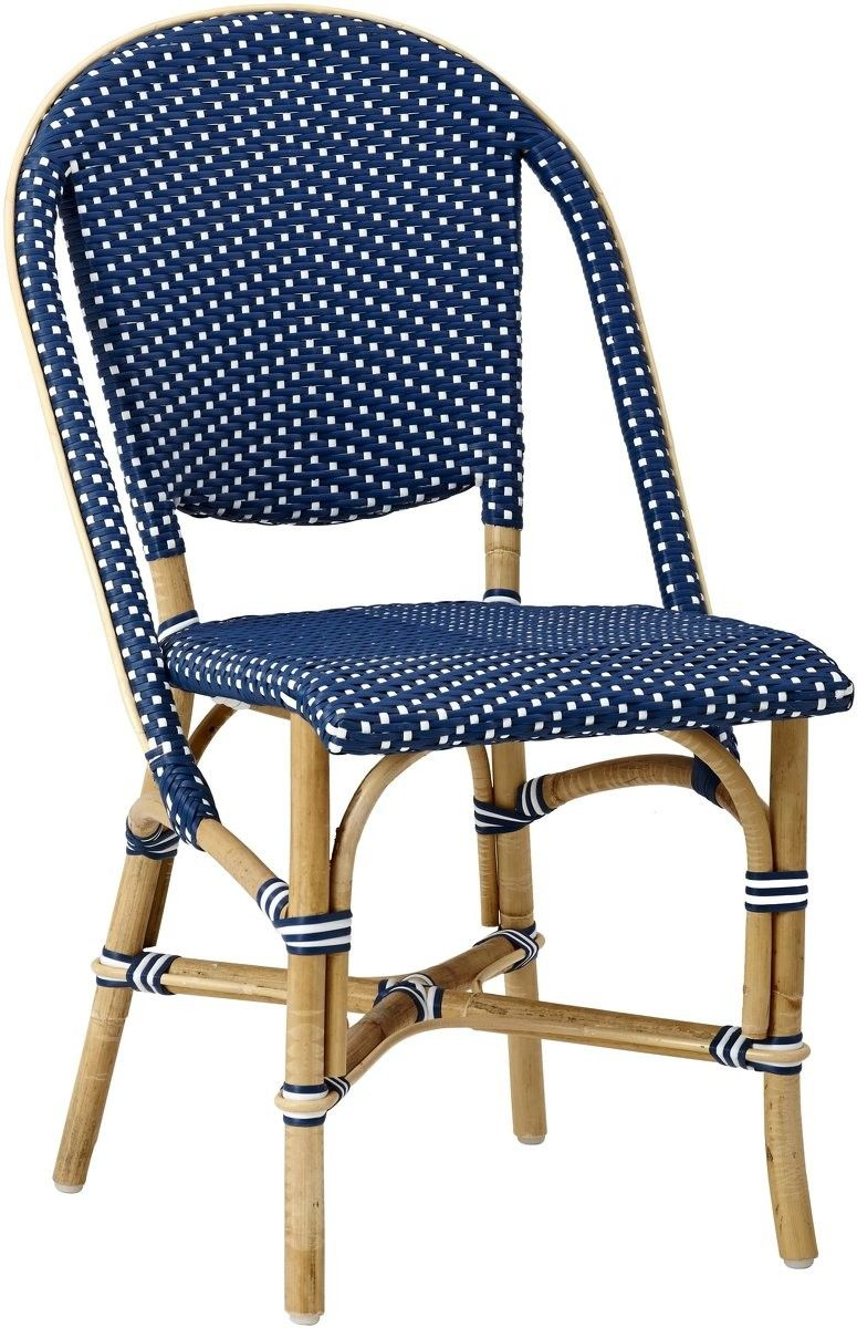 Chaise SOFIE de Sika Design, Navy Blue | Chaise rotin
