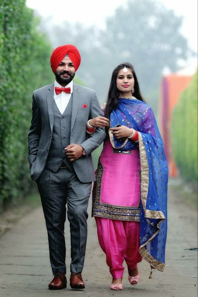 Pin by Amrit on weeding couples | Punjabi wedding suit ...