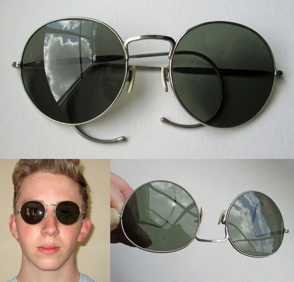 SOLD - WW2 RAF Air Ministry Anti-Glare Pilot Sunglasses - Issued
